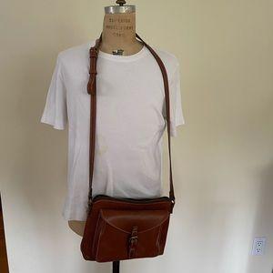 Cognac Patricia Nash Leather Crossbody Bag